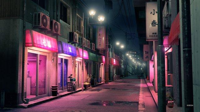 Yakuza: Like A Dragon setzt viel auf stimmige Umgebungen, die einfach umwerfend aussehen.