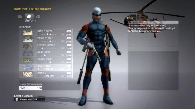 Gray Fox: Das rot-blaue Outfit erinnert stark an die Pixel-Grafik in Teil Eins.