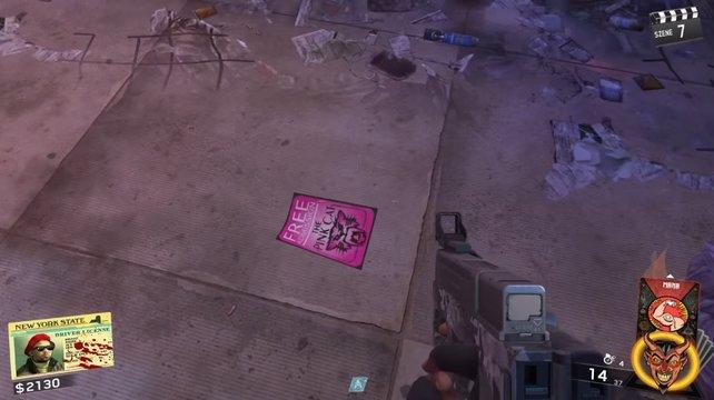 """Dieser rosa Flyer liegt ab und zu auch direkt am Eingang des """"The Lounge""""."""