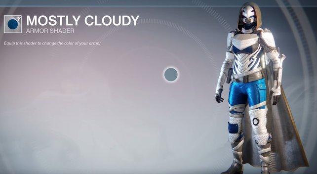 Mostly Cloudy: Kalte Farbtöne mit leuchtend blauen Details.