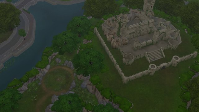 Die verlassene Ruine liegt am Rand von Gibbs Hill. Leider kann sie nicht betreten werden.