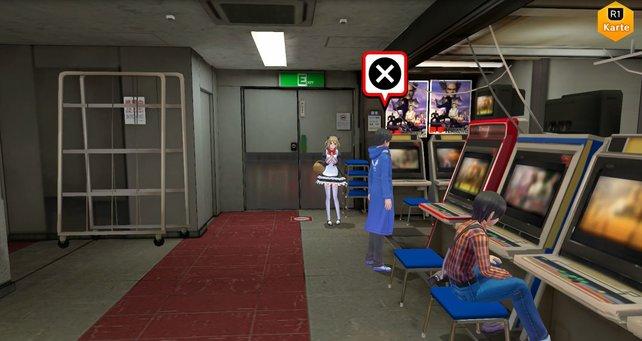 Bei diesem Spielautomaten könnt ihr das Kolosseum starten.
