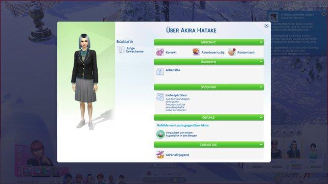 Die Sim-Info hat ein neues Layout bekommen und zeigt euch nun alle wichtigen Details auf einem Blick an.