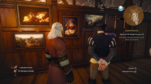 Jaromir hat ein gutes Auge für Gemälde.