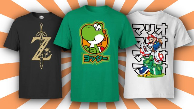 Bei Zavvi gibt's jetzt Nintendo-Fashion im Angebot.
