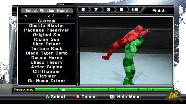 Mein Highlight war der Creator-Mode, bei dem wir uns eigenen Wrestler erstellen konnten, wie zum Beispiel den Nikolaus, Dieter Bohlen, den Hulk oder eine zwei Meter hohe Barbie.
