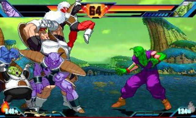 Piccolo legt sich mit dem ganzen Ginyu-Kommando an.