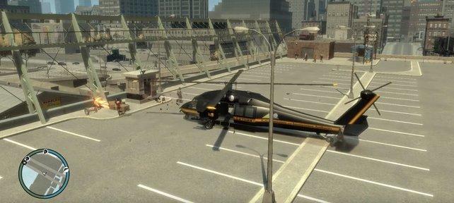 """Mit den """"GTA 4""""-Cheats seid ihr nur wenige Klicks von einem Hubschrauber entfernt."""