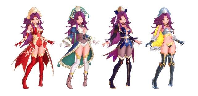 Angelas Tier-3-Klassen von links nach rechts: Große Göttliche, Erzmagier, Runensucher und Magus.