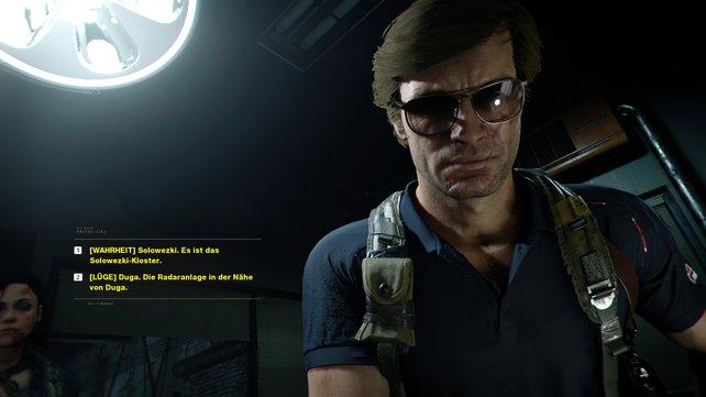Sagt Adler im Verhör die Wahrheit, um das gute Ende von Call of Duty: Cold War freizuschalten.