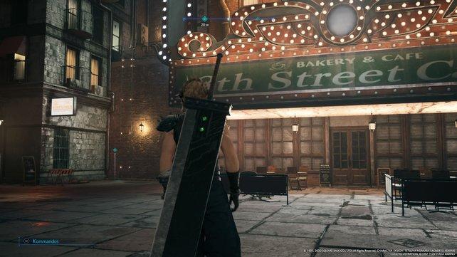 """Links neben dem """"8th Street Cafe"""" führt eine Leiter auf die Dächer."""