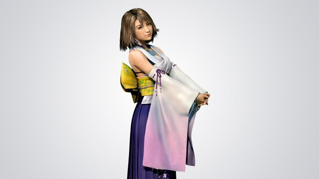 Yuna in ihrem Outfit aus Final Fantasy X.