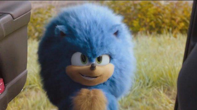 Sonic mit wilder Frise im neuen Film. Quelle: Paramount.