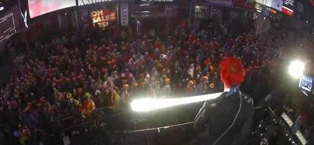 Ninjas größter Fail: The Floss zum Jahreswechsel am Times Square.
