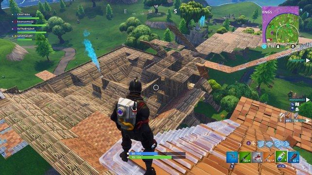 Fortnite: Gebäude können gerade in der Endphase einer Runde spielentscheidend sein.