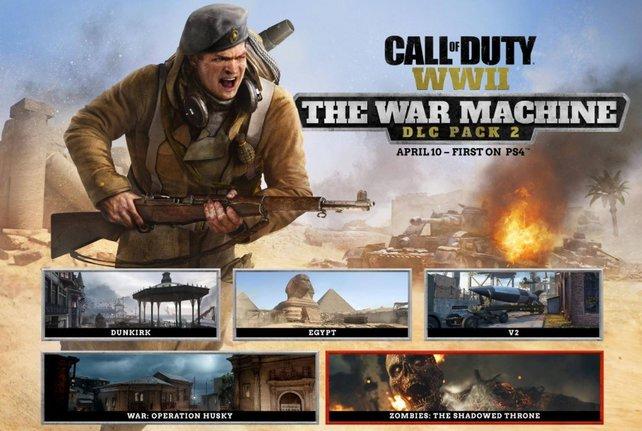 """""""The War Machine"""" ist der zweite DLC für Call of Duty - WW2. PS4-Spieler dürfen ab dem 10. April ran."""