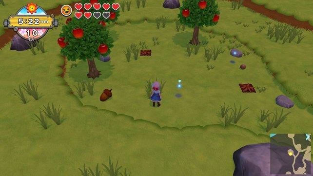 Direkt bei dem Grasbüschel vor dem unsere Figur steht, befindet sich der Süßkartoffelsamen.