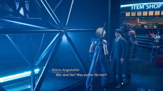 Der Kollaborateur steht neben dem Kampfsimulator und gibt euch die nächste Schlüsselkarte, allerdings nur, wenn ihr seine Herausforderung besteht.