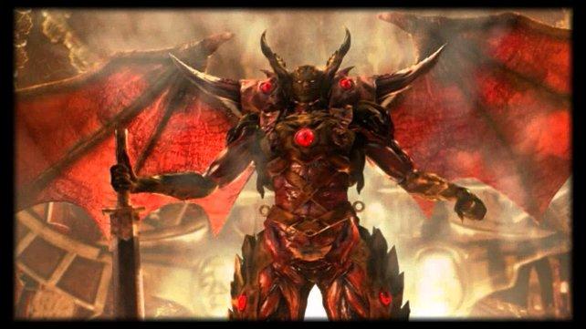Nobunaga beweist, dass er mit dämonischen Mächten im Bund steht.
