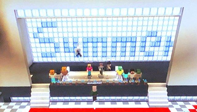 Eine Abschlusszeremonie von zu Hause aus - dank Minecraft.