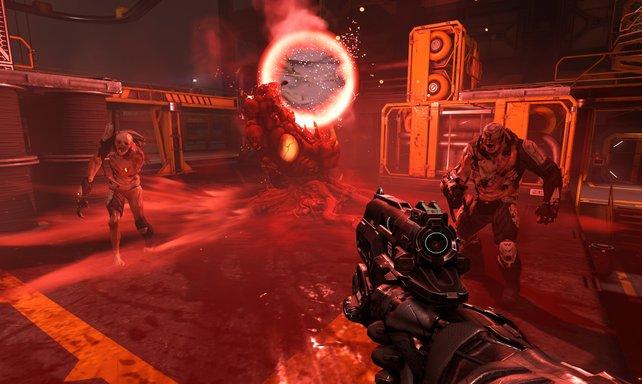 In Doom ist der frontale Weg immer der richtige. Und einzige.