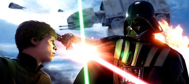 Auf Hoth kommt es zur Konfrontation zwischen Luke Skywalker und Darth Vader.