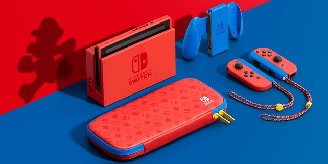 Die Nintendo Switch gibt es jetzt als limitierte Mario-Edition. (Bildquelle: Nintendo)