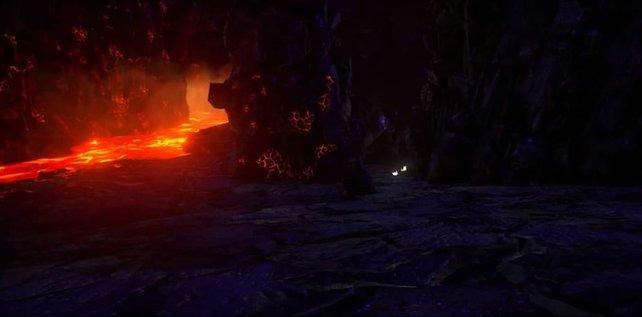 In der Lava-Höhle werdet ihr fast zerfließen vor Hitze. Stellt euch auf diese Situation gut ein.