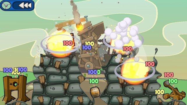 Ihr habt es sicher schon erraten: Worms ist ein solches Artillery Game.