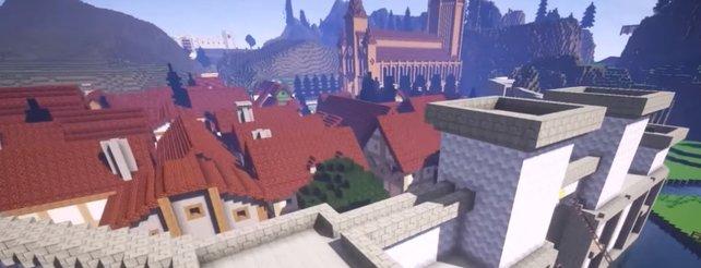 Minecraft Es Ist Vollbracht ZeldaWelt Hyrule Aus Ocarina Of Time - Minecraft legend spielen