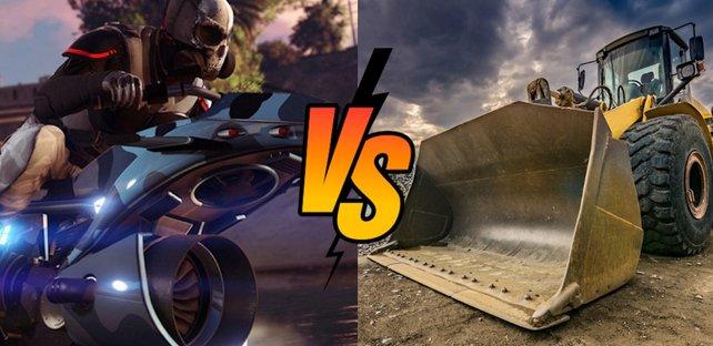 """""""GTA Online""""-Spieler trollt mit einem Bagger. Bildquelle: Getty Images/Juan-Enrique/vectorplusb"""