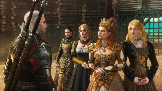 Die Königin von Toussaint mit ihren Hofdamen.