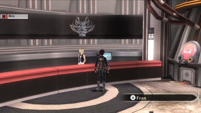 An diesem spartanischen Info-Schalter startet ihr neue Missionen.