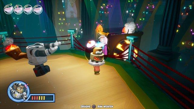 In den Bosskämpfen müssen die Freunde gegen ihre eigenen Roboter-Versionen antreten.
