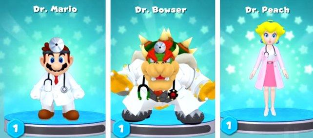 Einer dieser drei Doktoren wird euer Start-Charakter sein.