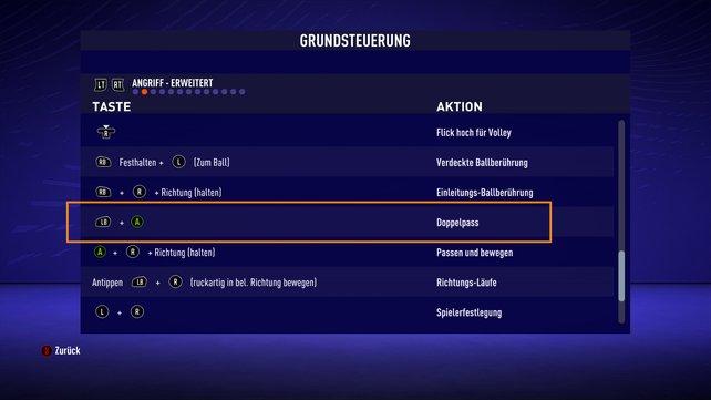 Rätsel von EA: Der sogenannte Richtungs-Doppelpass in FIFA 21 ist ein üblicher Doppelpass.