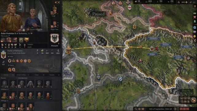 Durch die Kriegsführung könnt ihr in Crusader Kings 3 euer Hoheitsgebiet erweitern.