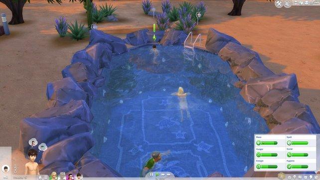 Egal, ob auf Gemeinschaftsgrundstücken oder in privaten Häusern - Sims lieben ihre Pools.