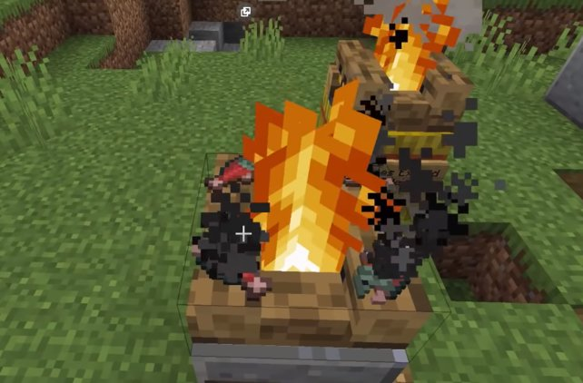 Lagerfeuer spielen in Minecraft seit dem Update eine große Rolle.