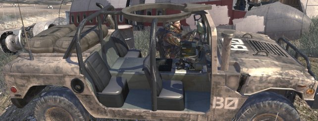 Ein Humvee-Fahrzeug in Call of Duty - Modern Warfare 2.