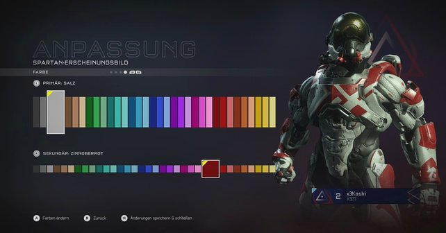 Im Spartan-Hub verändert ihr das Erscheinungsbild eures Charakters für Mehrspieler-Partien.