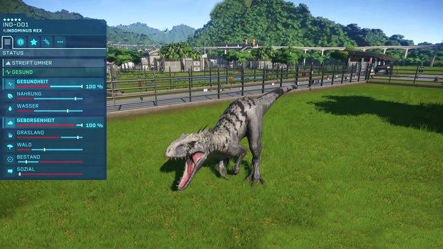 Dürfen wir vorstellen? Das ist der Indominus Rex, der erste Hybrid in unserem Jurassic World Evolution.