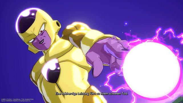 Der goldene Freezer sieht hübsch aus und schickt Feinde mit Leichtigkeit ins Jenseits.
