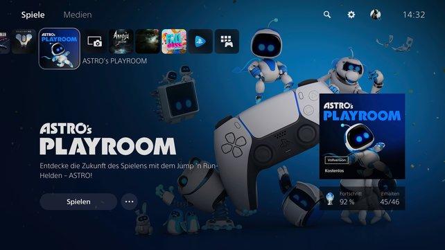 Minimalistisch, aber sehr hübsch: Das Menü der PlayStation 5.