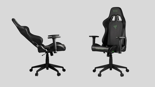 Razer Gaming-Stuhl Tarok Pro-Edition: Jetzt stark reduziert (Bildquelle: Amazon-Produktbilder).