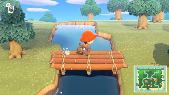 Brücken sind äußerst praktisch, um bequem von einem Inselteil auf einen anderen zu gelangen.