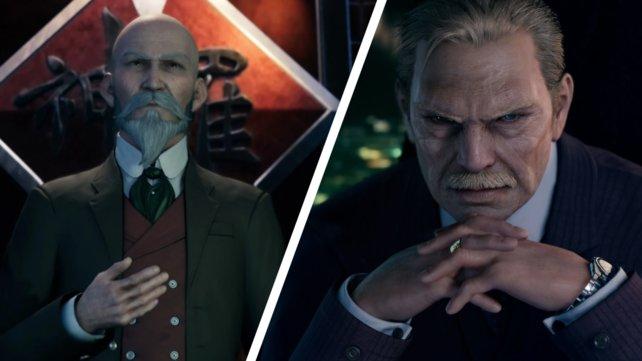 Domino (links) ist zwar der Bürgermeister von Midgar, aber es ist Direktor Shinra (rechts) der tatsächlich das Sagen hat.