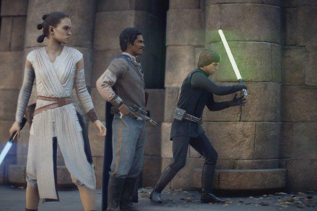 Mit genügend Kampfpunkten könnt ihr in SW: Battlefront 2 als Held oder Schurke den Kampf bestimmen.