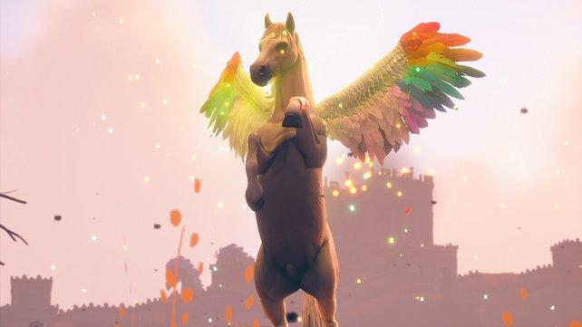Frühling ist eines der legendären Reittiere in Immortals: Fenyx Rising