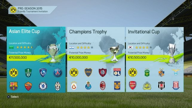 Hohe Preisgelder und Weltklasse-Fußball erwarten Euch in der Vorsaison. (Bildquelle: EA Sports)